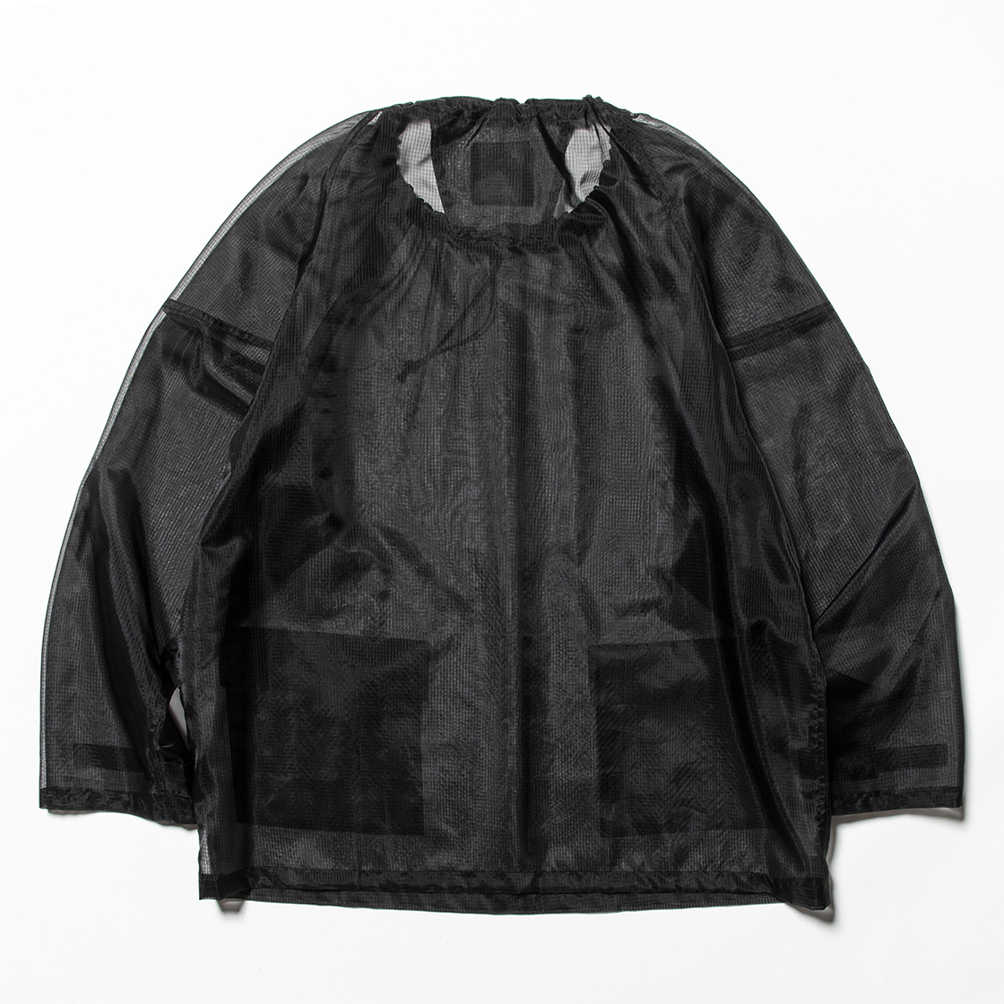 Rip Stop Mesh Pullover Off Black