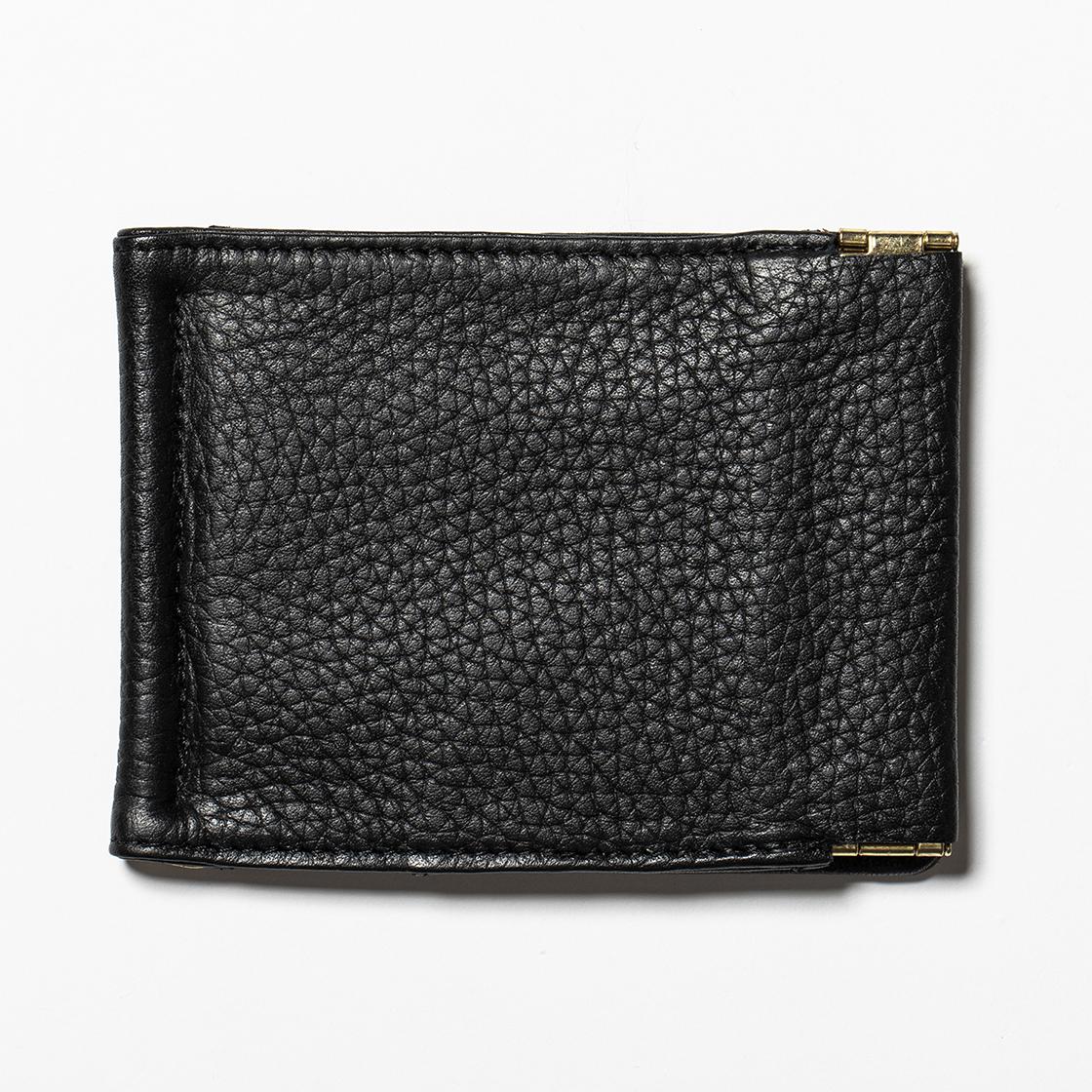 Leather Money Clip Off Black