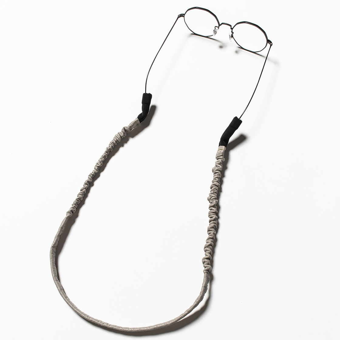 Bungee Leather Glass Cord Light Grey