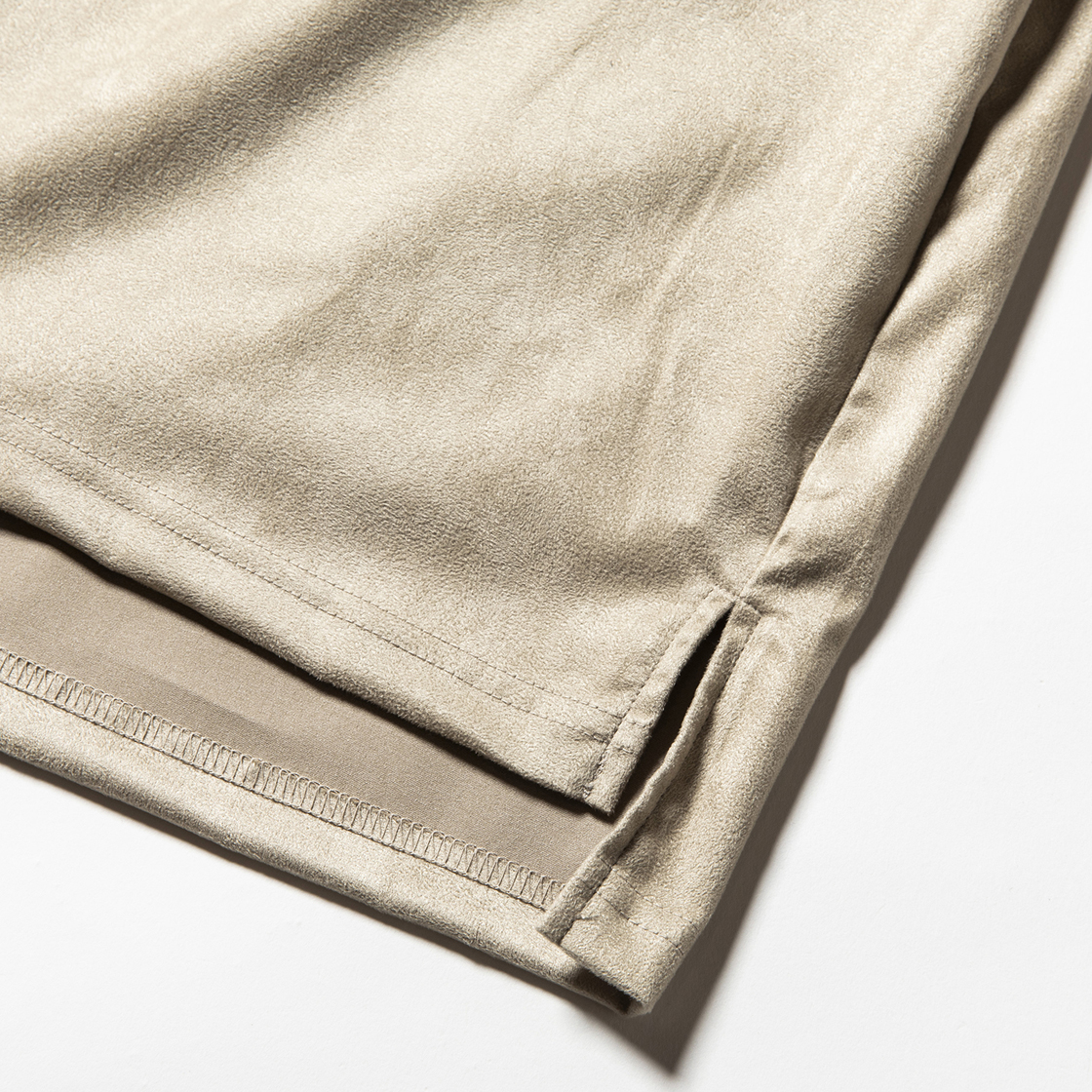 Suede Split Sleeve Turtleneck Grey