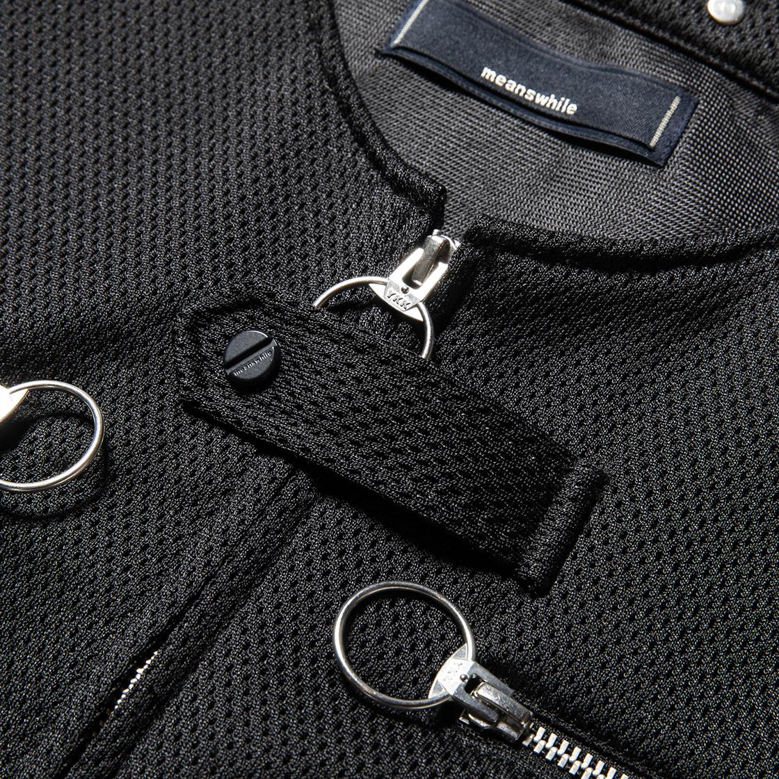 Activist Mesh Vest Bag Off Black