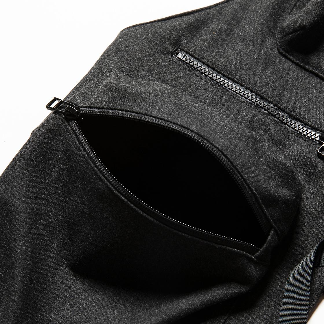Tech Cloth Split Luggage Vest Coal