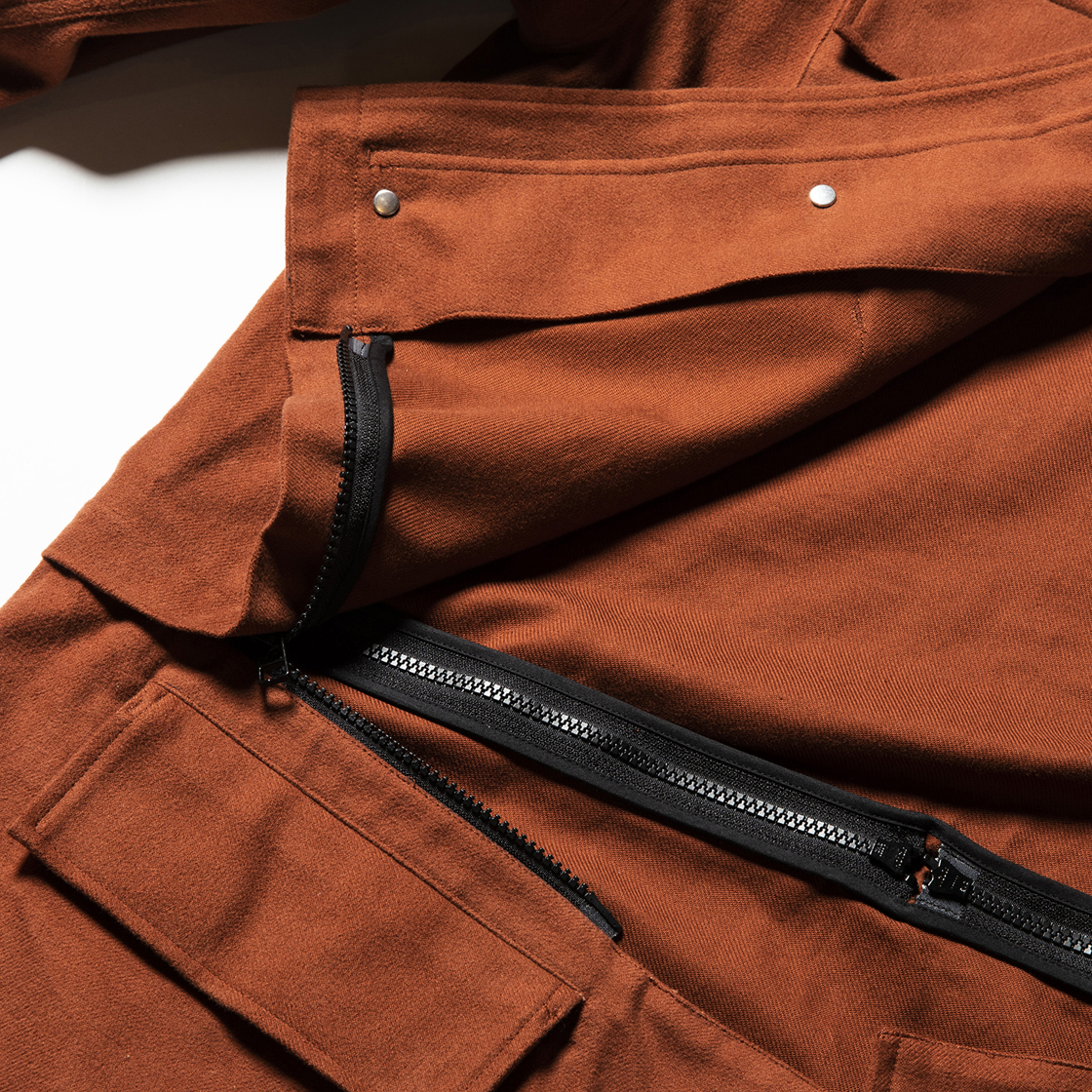 Dress Flannel M51 Brown