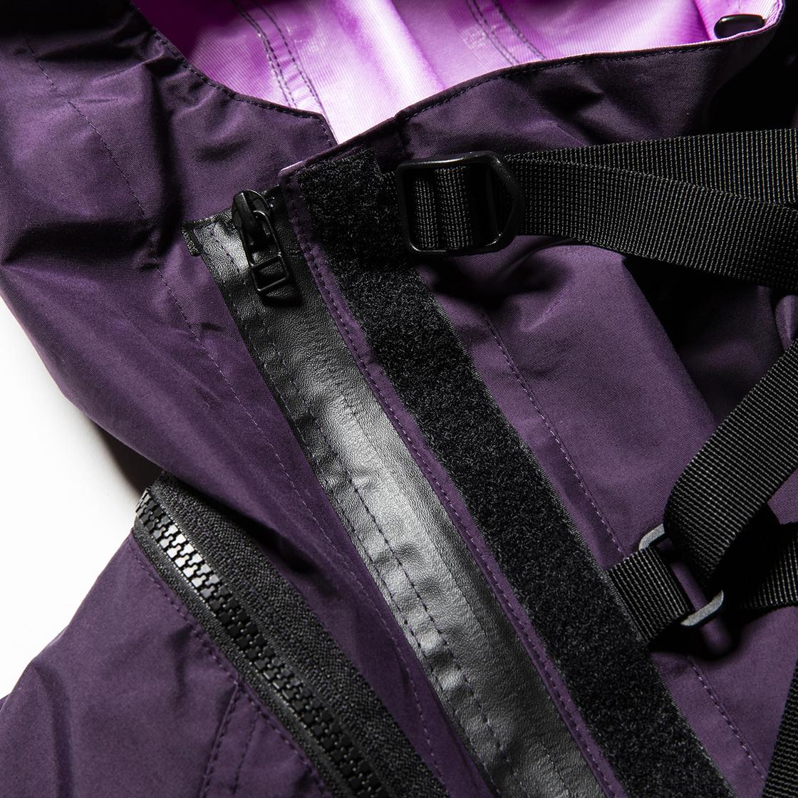 3 Layer Detachable Anorak OP Purple