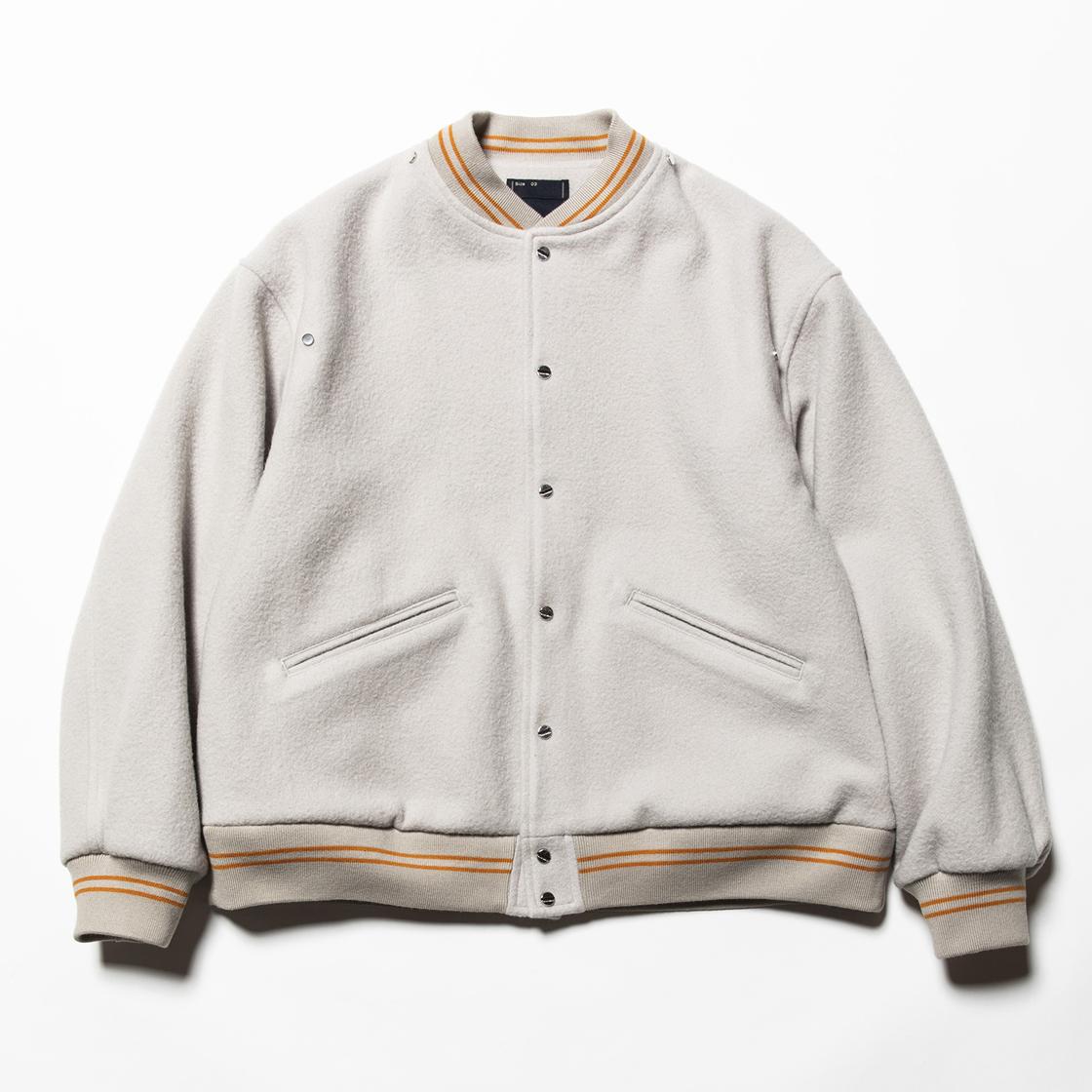 Retro Fleece Melton Varsity Jackets G.White