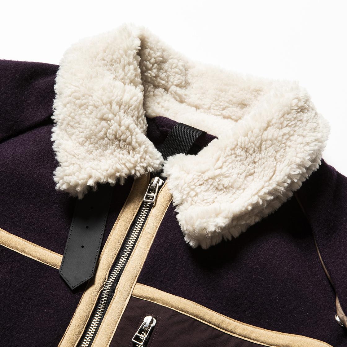 Retro Fleece Melton B3 D.Purple