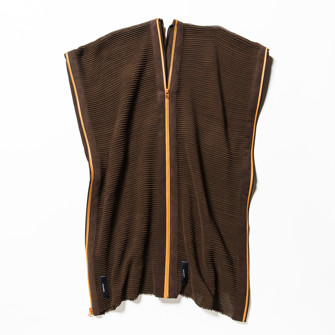Slit Knit Unit Stole Brown