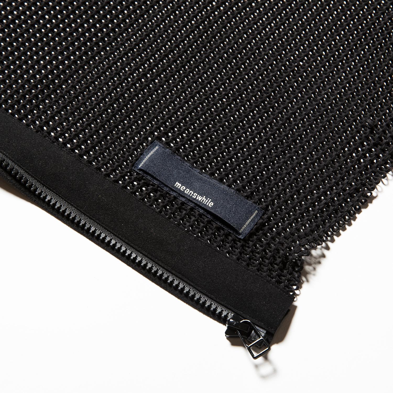 Slit Knit Unit Stole Off Black