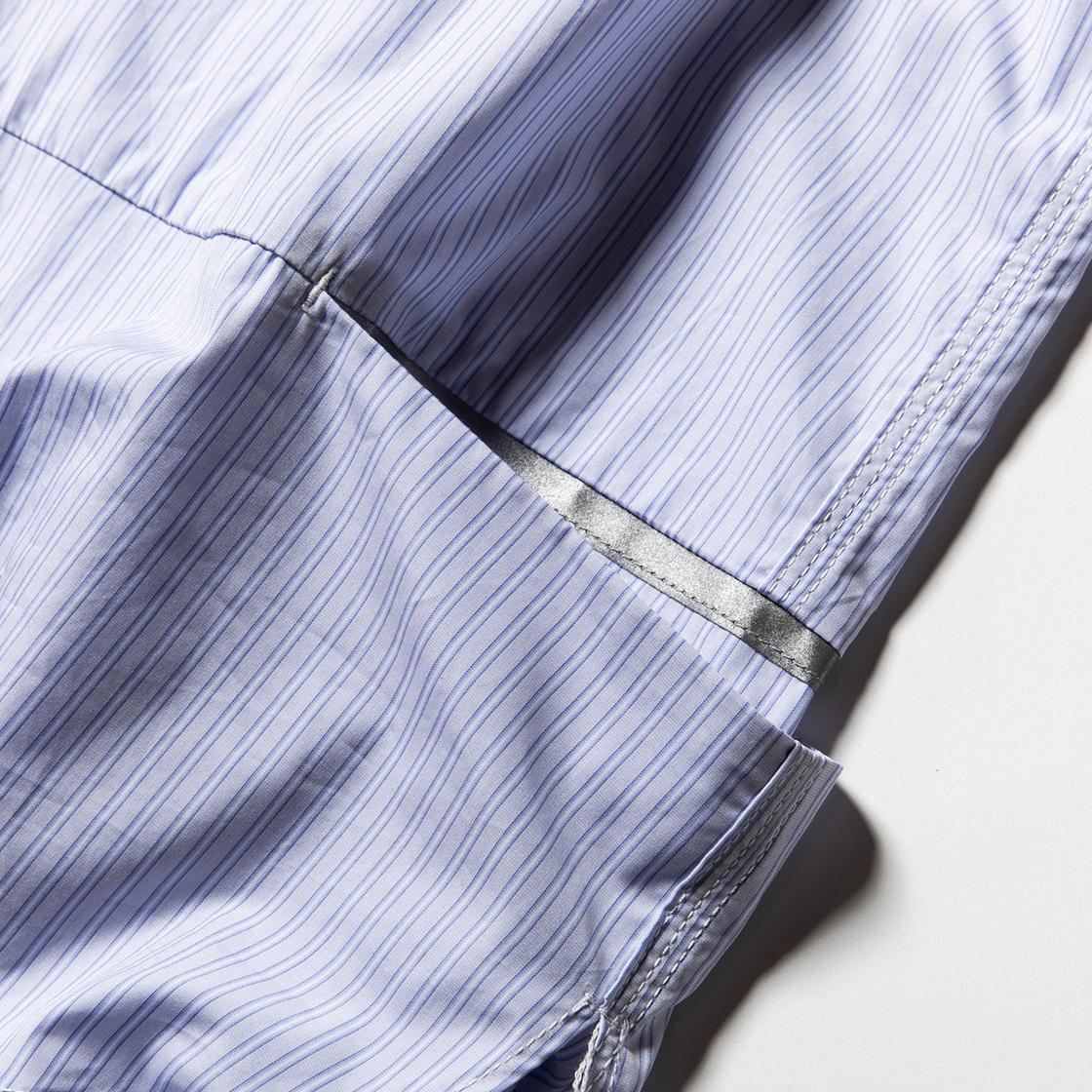 Imperial Poplin Packable SH Stripe