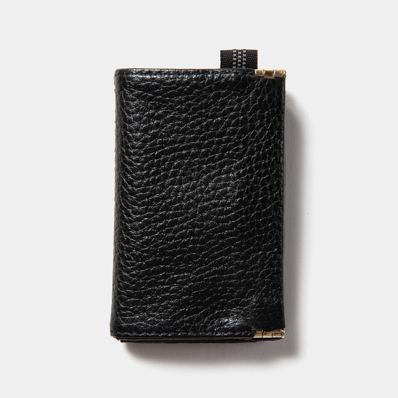 Leather Minimal Wallet / Off Black