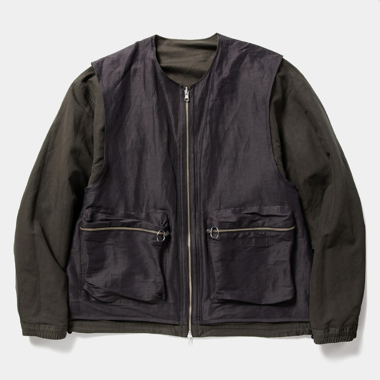 Duality Cloth Reversible 4Way JKT / Off Black