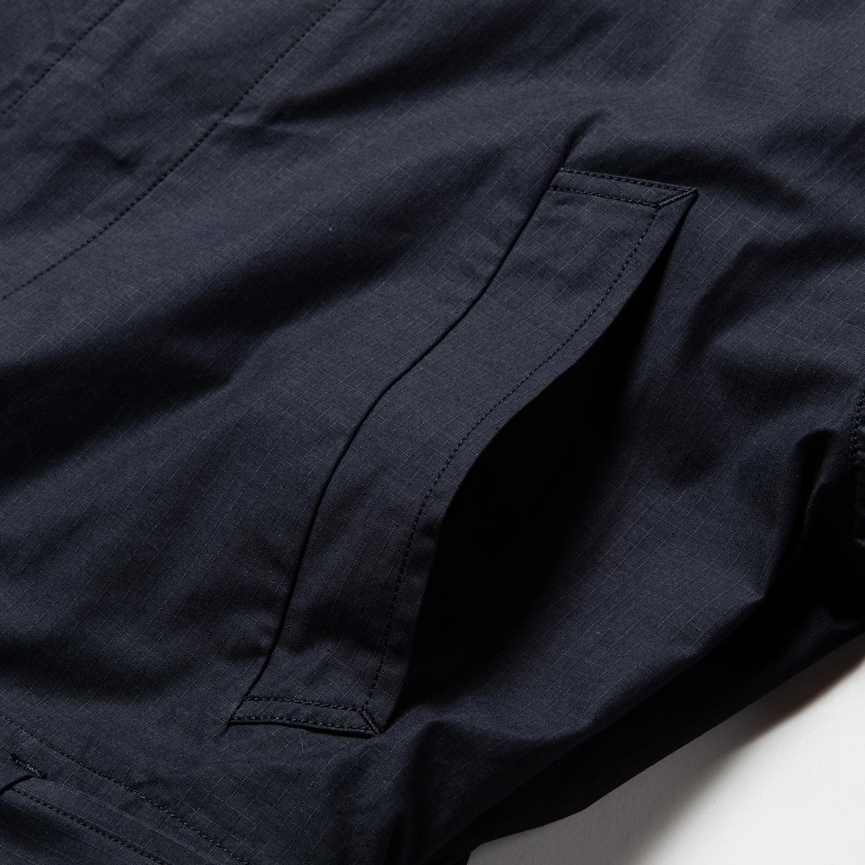 Iridescent Split Over Coat / Navy