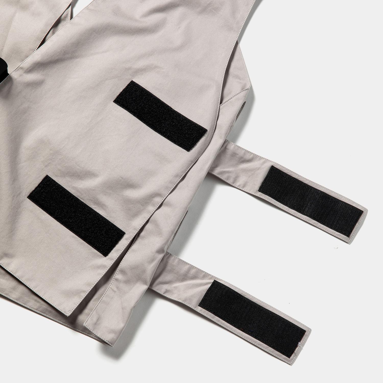 High Density Gabardine Split Vest / Grey