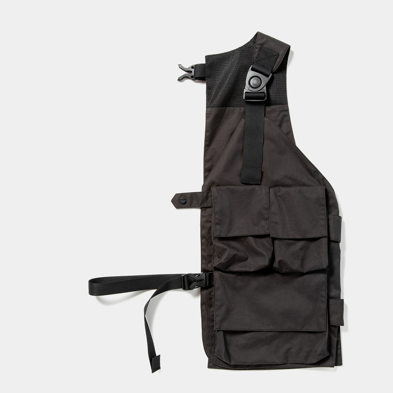 High Density Gabardine Split Vest /Off Black