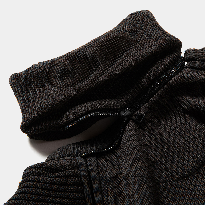 Water-Repellent Detachable Knit  / Charcoal