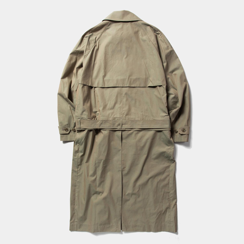Iridescent Split Over Coat / Khaki