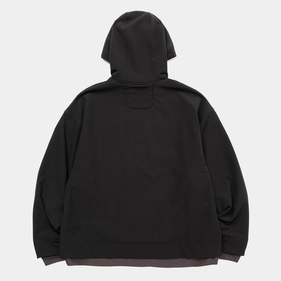 Brushed Lining Jog Hoodie / Off Black