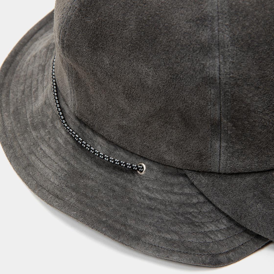 Suede Split Hat / Charcoal