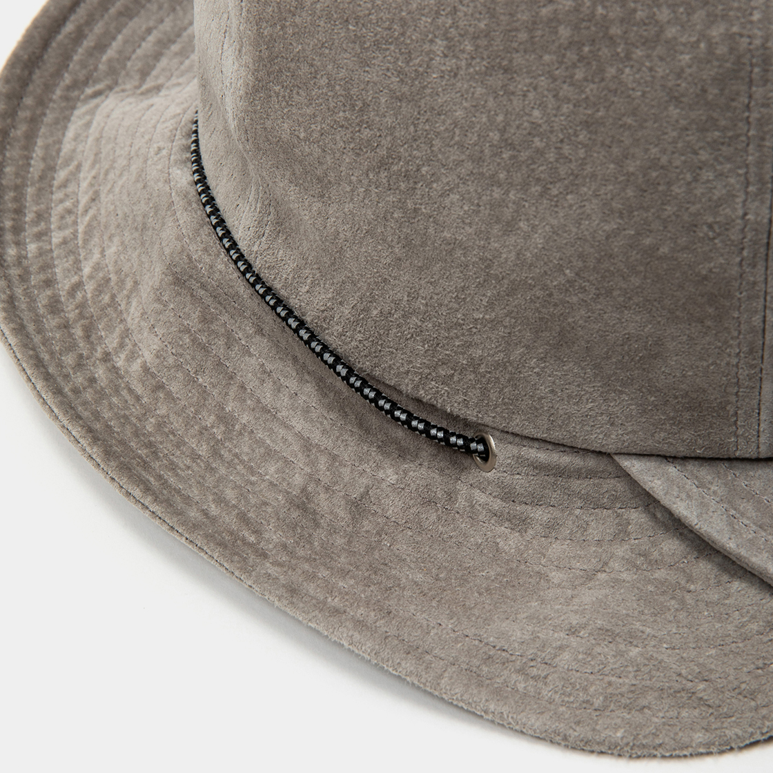 Suede Split Hat / Grey