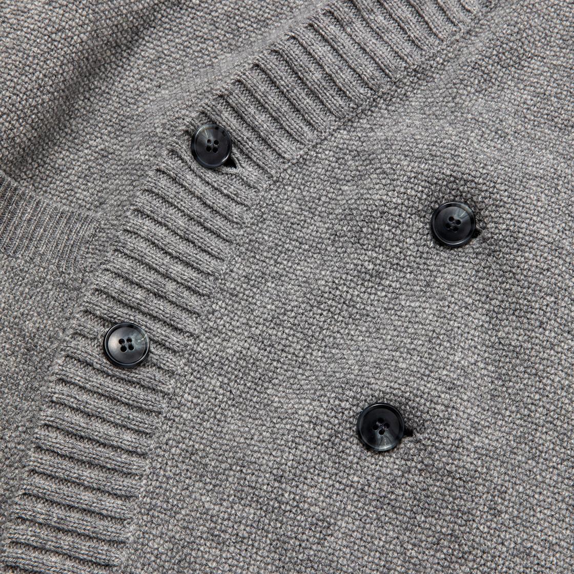 Double Knit Cardigan / Grey