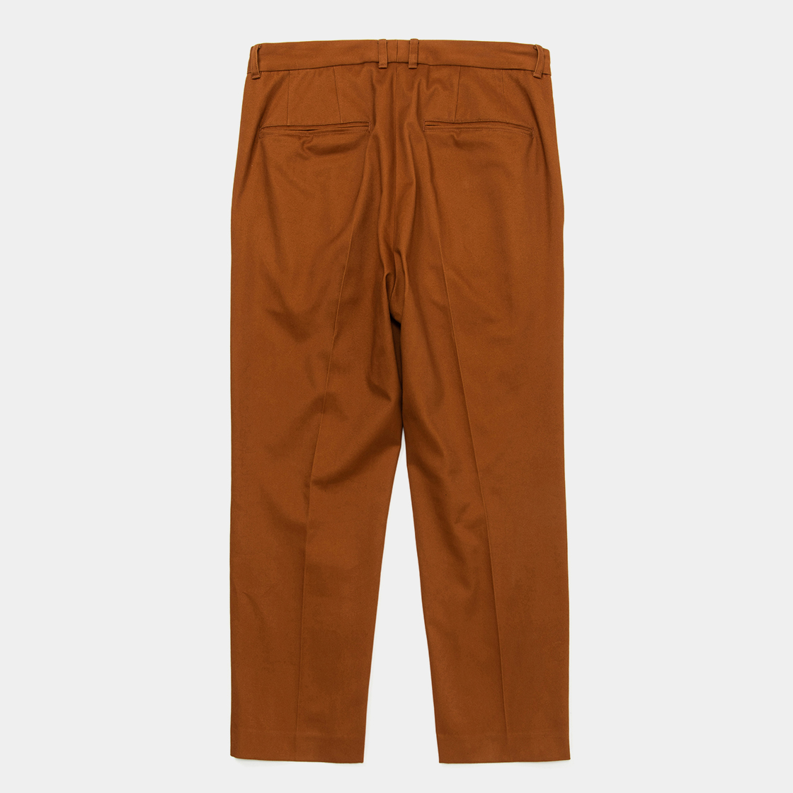 Satin Flannel Blur Trouser / Brown