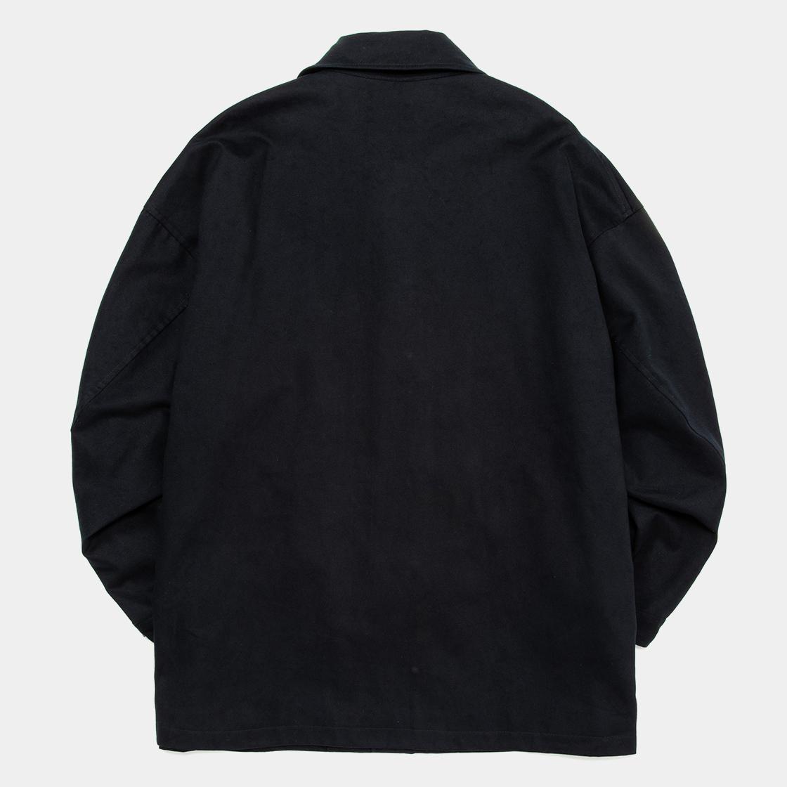 Satin Flannel Over Short Coat / Navy