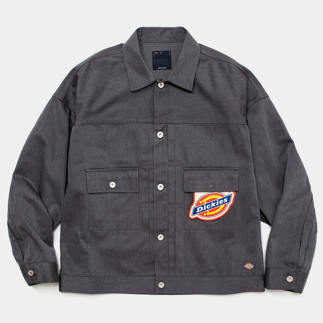 Pleated Sleeve Blouse×Dickies® / Charcoal