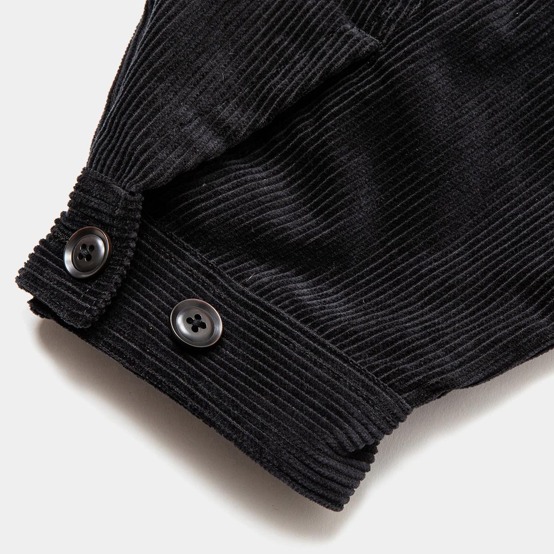 Corduroy Big Flap Blouson /  Off Black