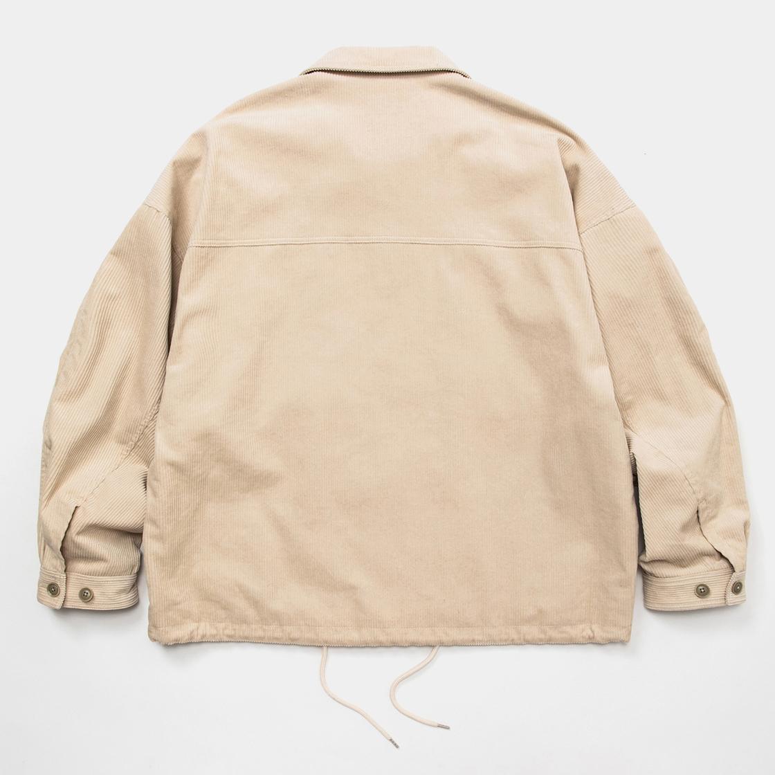 Corduroy Big Flap Blouson /  Off White